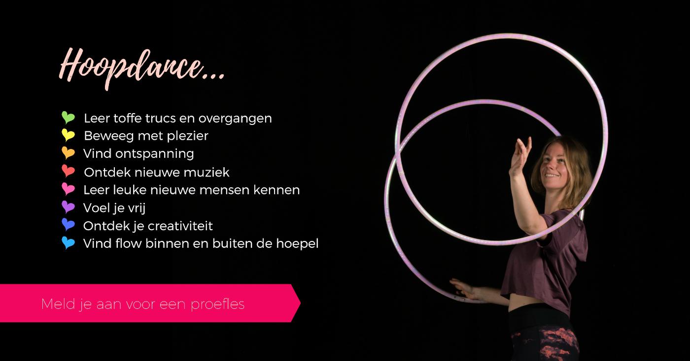 Hoopdance les leer hoepelen Nijmegen Arnhem Gelderland Hoepeljuf dansschool