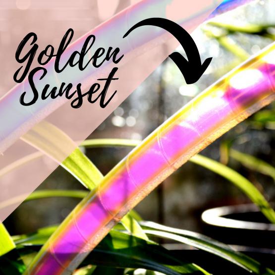 Golden Sunset polypro hoepel kopen bij De Hoepeljuf Hoopdance en Hoelahoeps